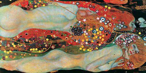 Gustav Klimt - Wasserschlangen II - jetzt bestellen auf kunst-fuer-alle.de