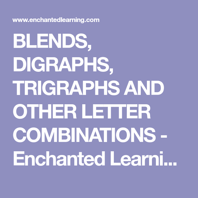 Blends Digraphs Trigraphs And Other Letter Combinations