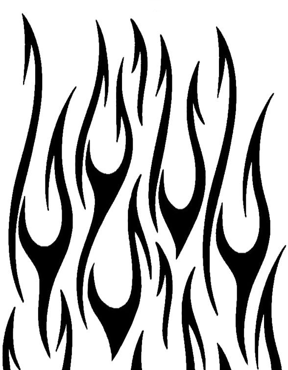Flame Designs Fire Flames Coloring Pages Fire Flame Tattoo