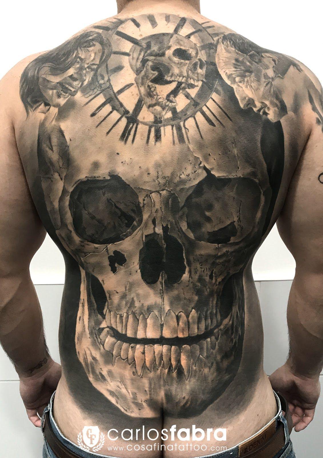 Resultado De Imagen Para Tatuajes Calaveras En Espalda Tatuaje