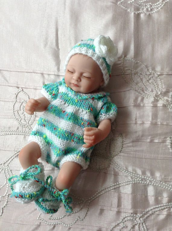 Hand Knitted Dolls Clothes To Fit A 10 Dollreborn Babybaby Doll