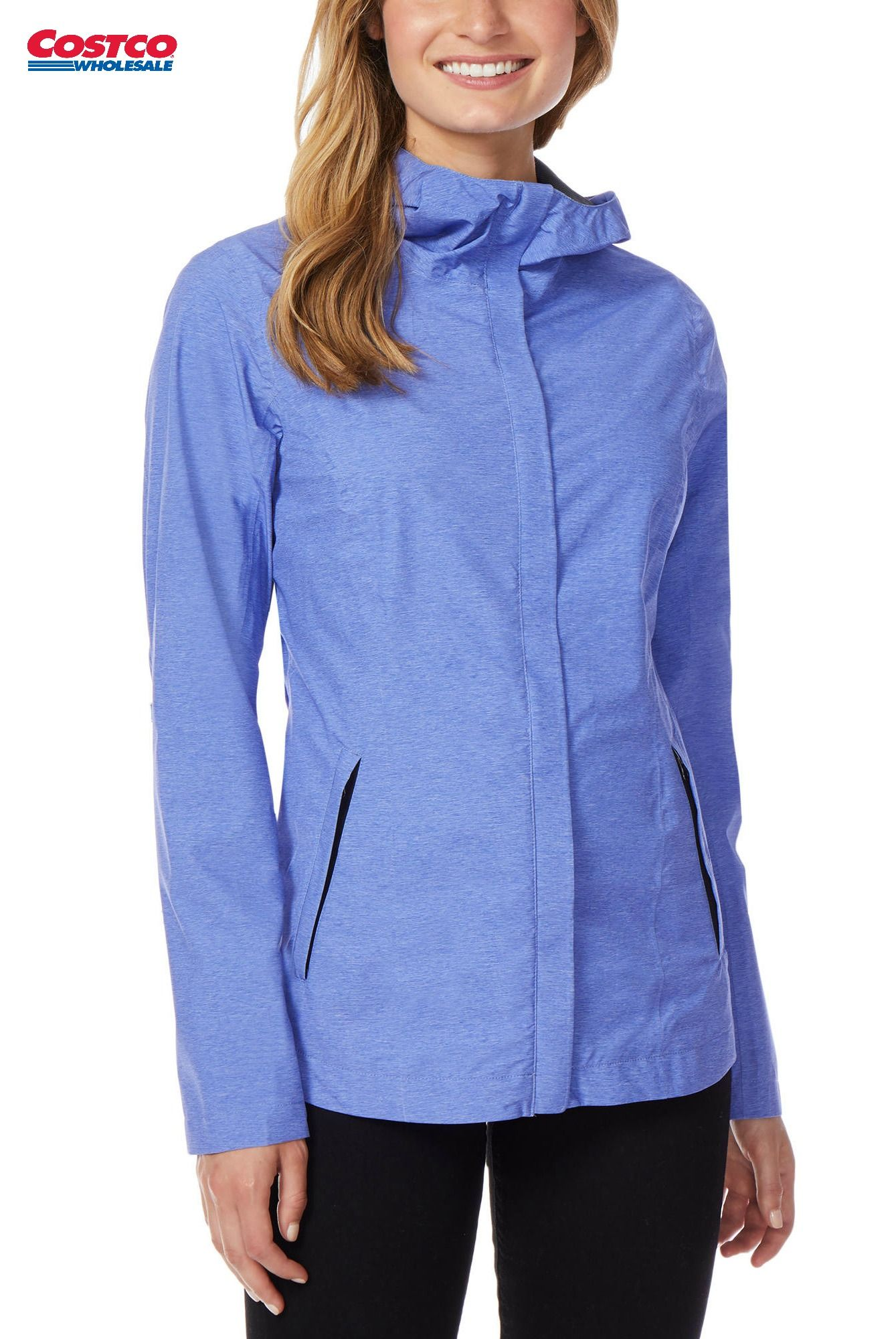 Degrees Ladies' Rain Jacket Costco Fashion Packable