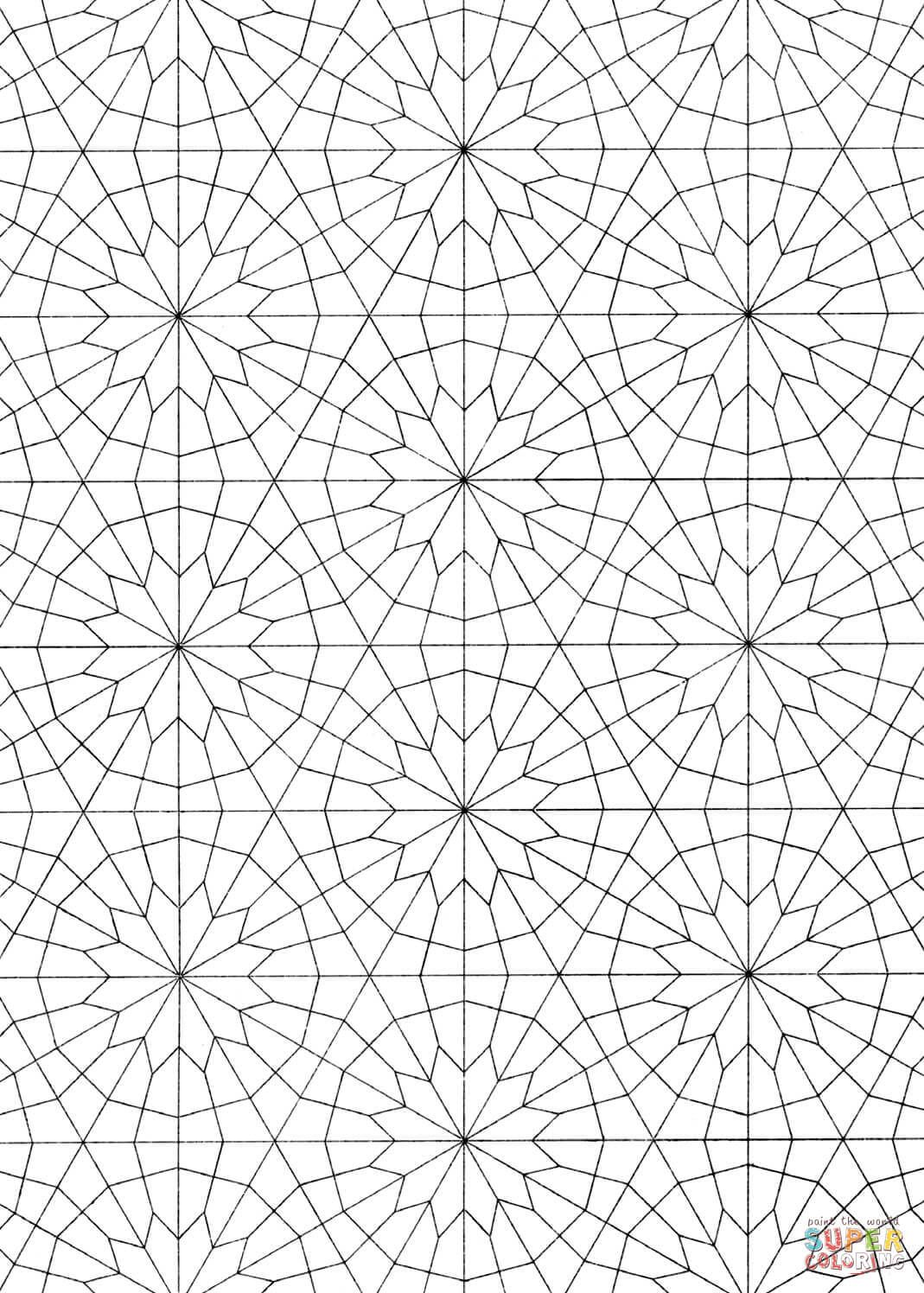 Islamic Pattern Coloring Page From Pattern Category Select From 29303 Printable Crafts Of Cartoons Nature Anim Arabic Pattern Islamic Pattern Print Patterns