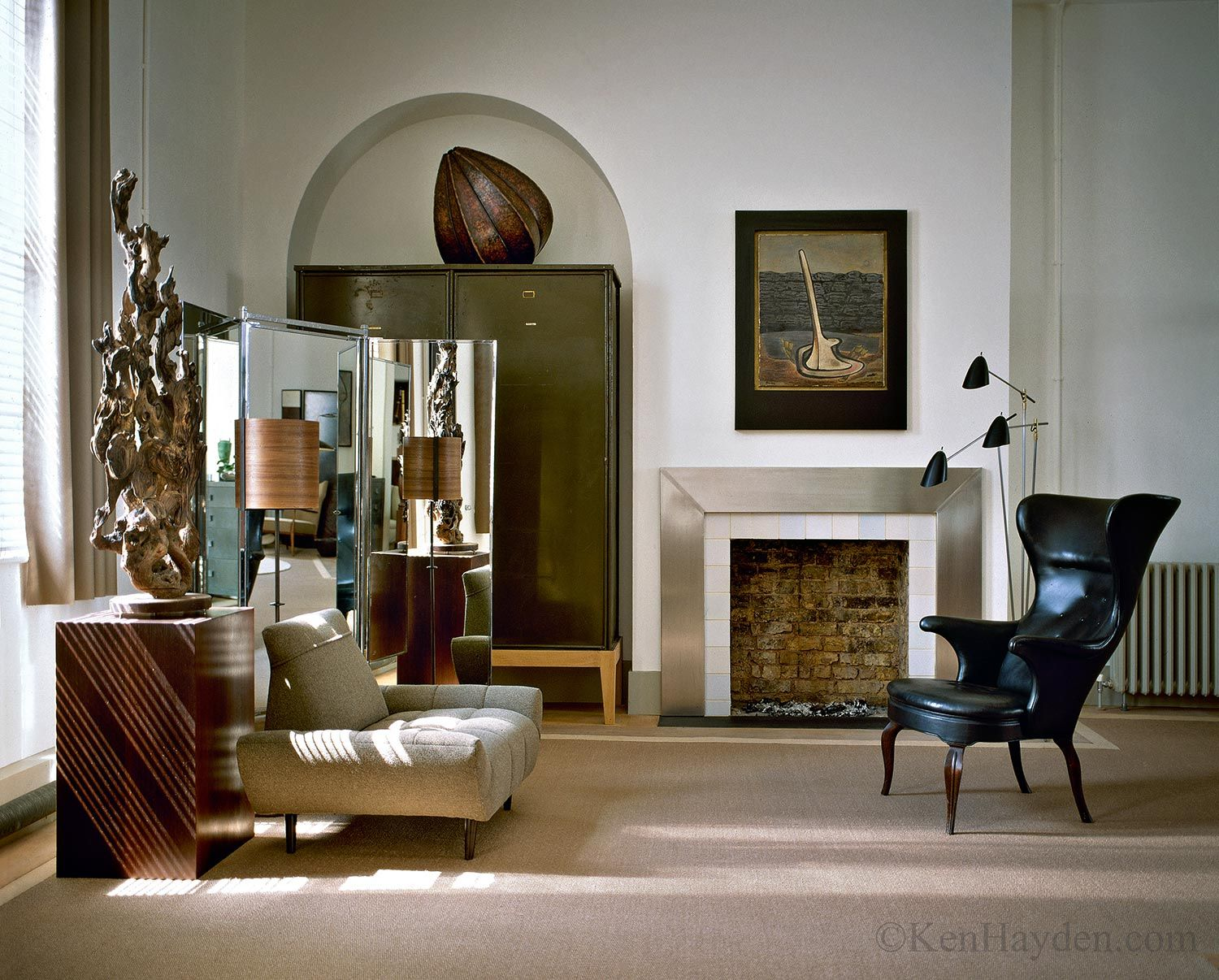 Studio reed jonathan reed s spare crafted interior design - Brick And Metal Modern Fireplace London Loft Jonathan Reed