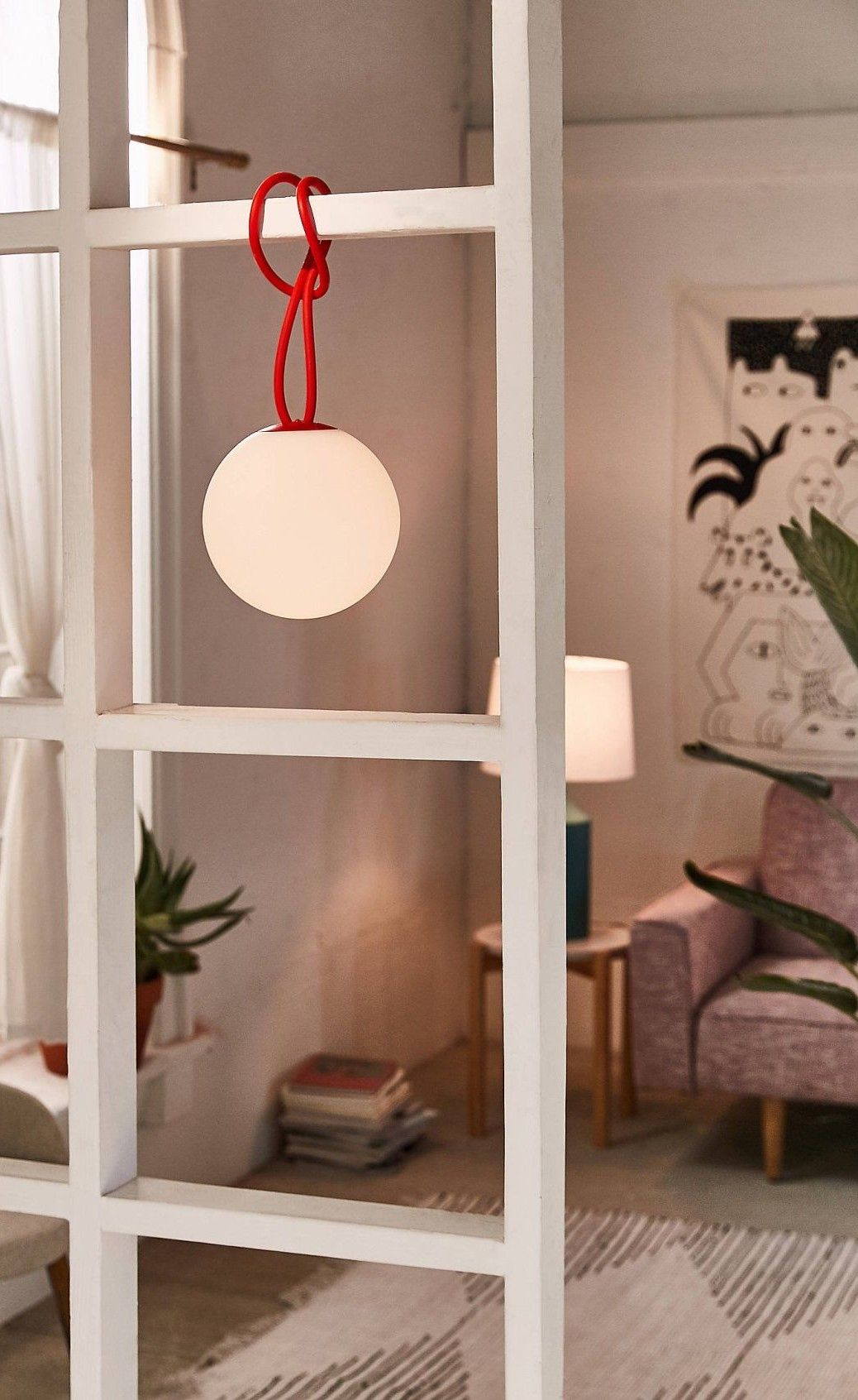 The Bolleke Outdoor Portable Light Is A Convenient Portable Lamp Perfect To Use Outside Or Inside In A Livi In 2020 With Images Hanging Lamp Kids Room Lighting Unique Wall Sconce