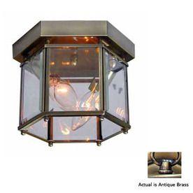 Volume International 8-in W Antique Brass Ceiling Flush Mount