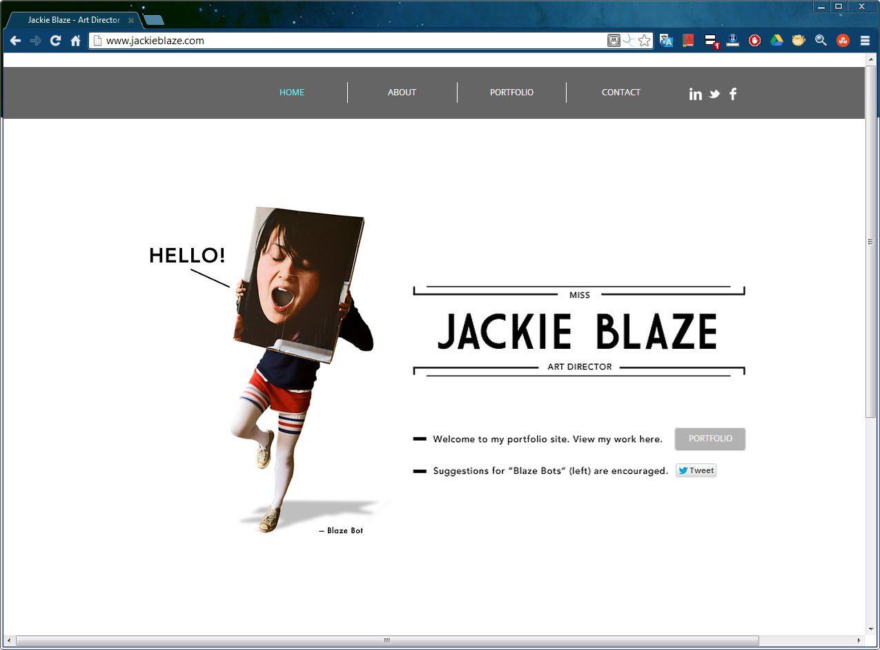Jackie Blaze Art Director Website Inspiring Wix Websites