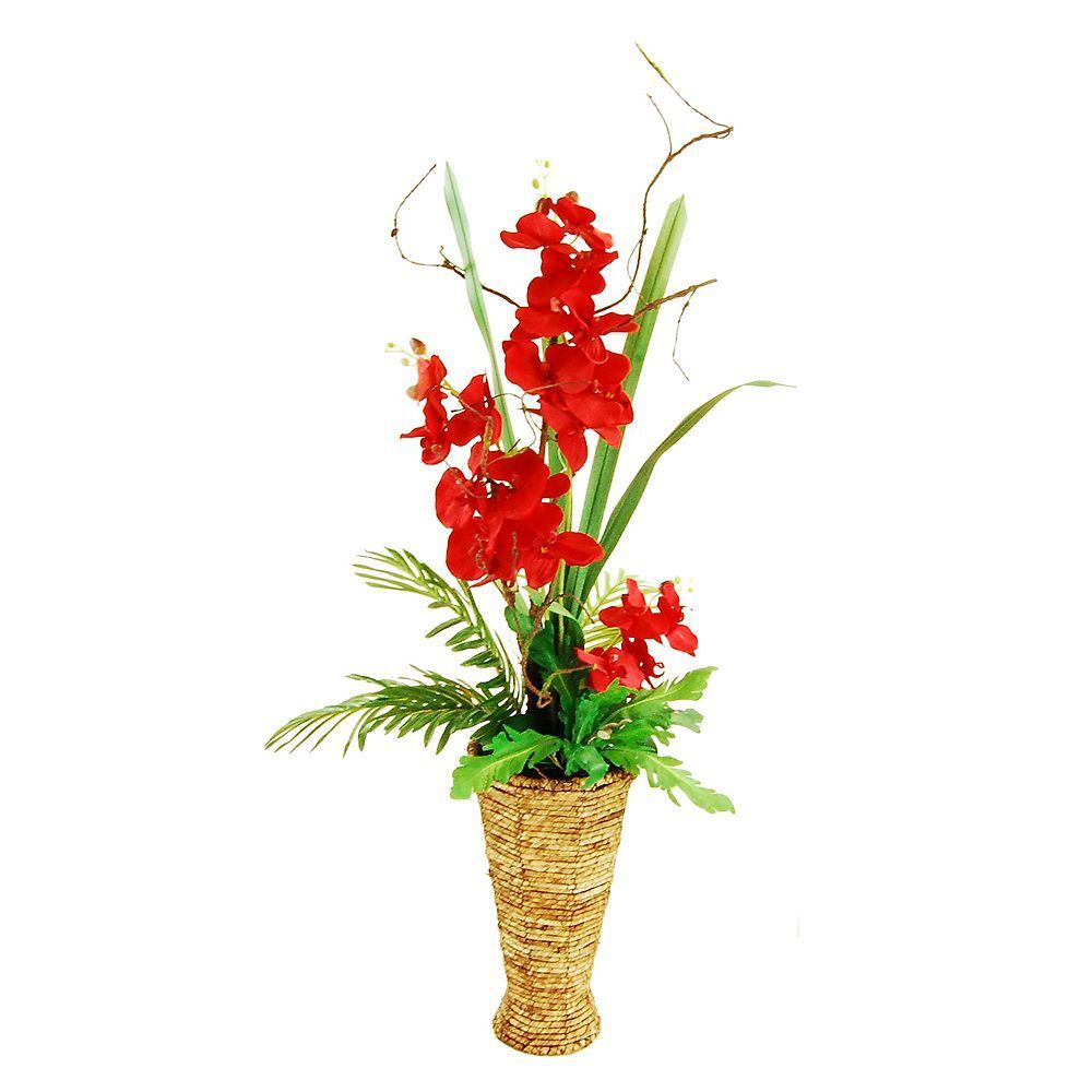 Designs by lauren artificial orchid arrangement red artificial