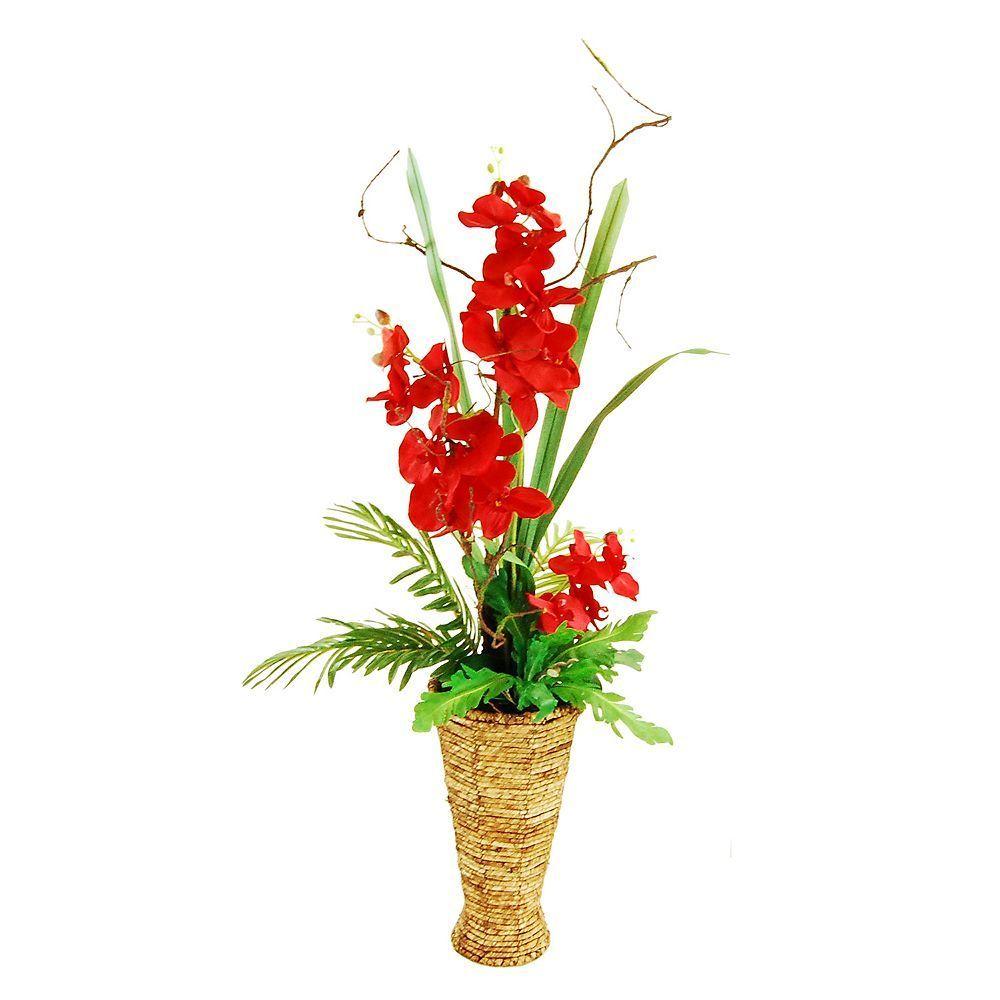 Designs by lauren artificial orchid arrangement red artificial