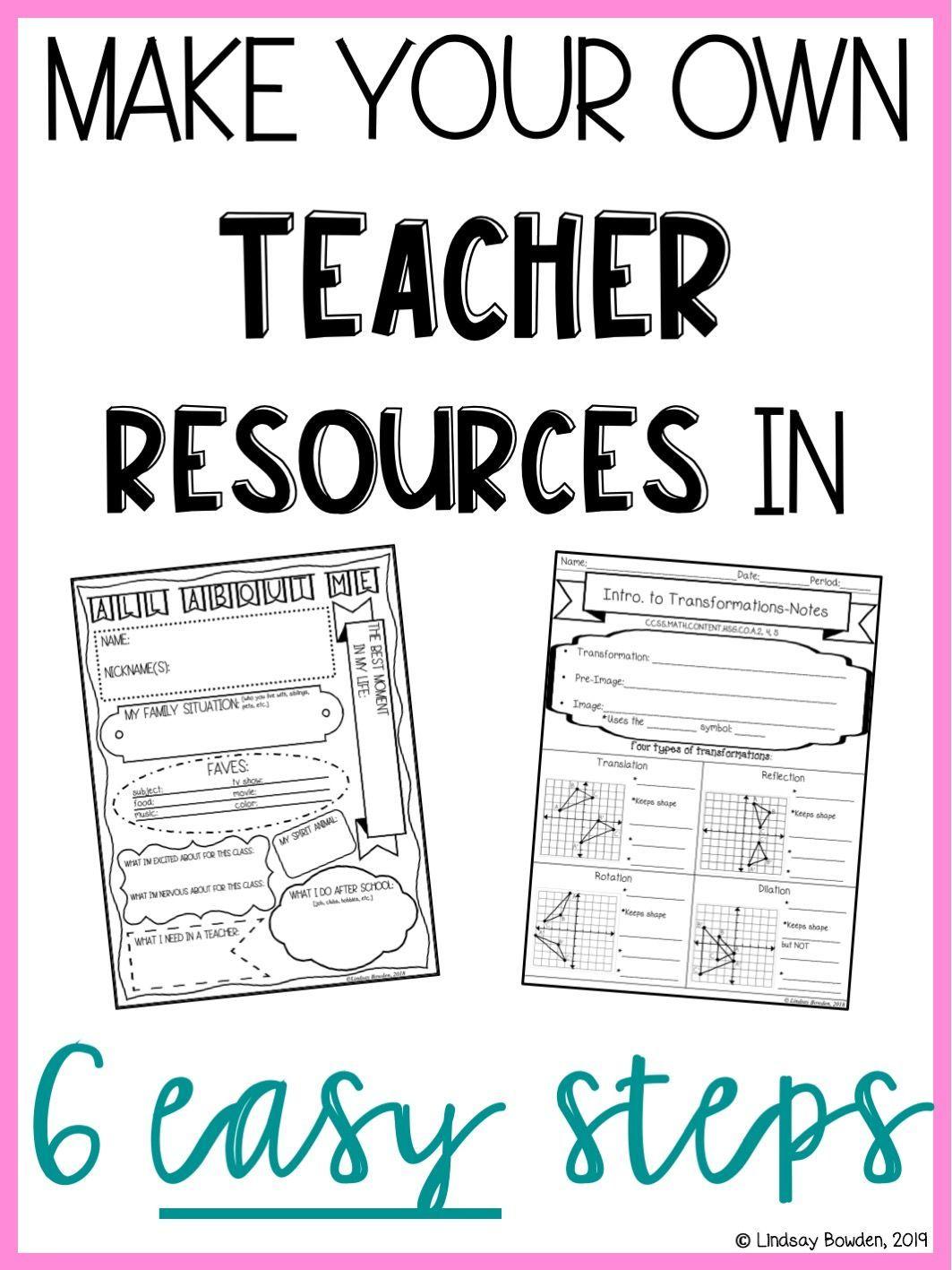 - Make Worksheets In 6 Easy Steps Teacher Resources, Teacher