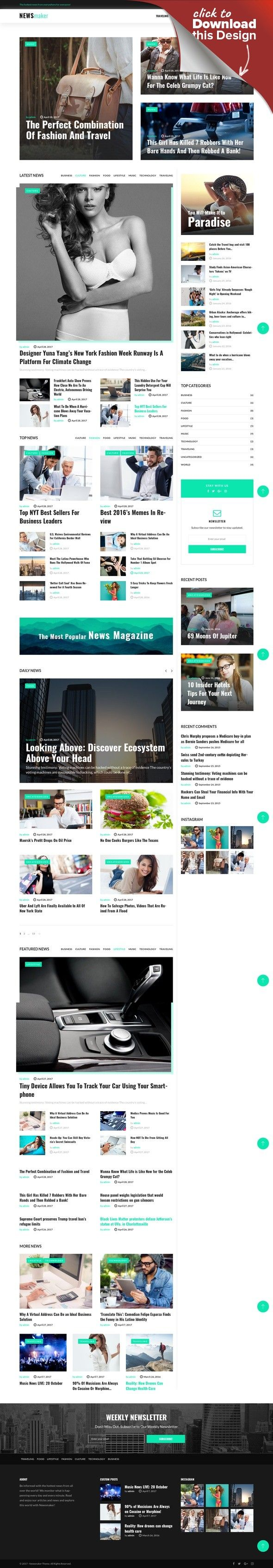 NEWSmaker - Tema WordPress para Portal de Noticias | Medios de ...