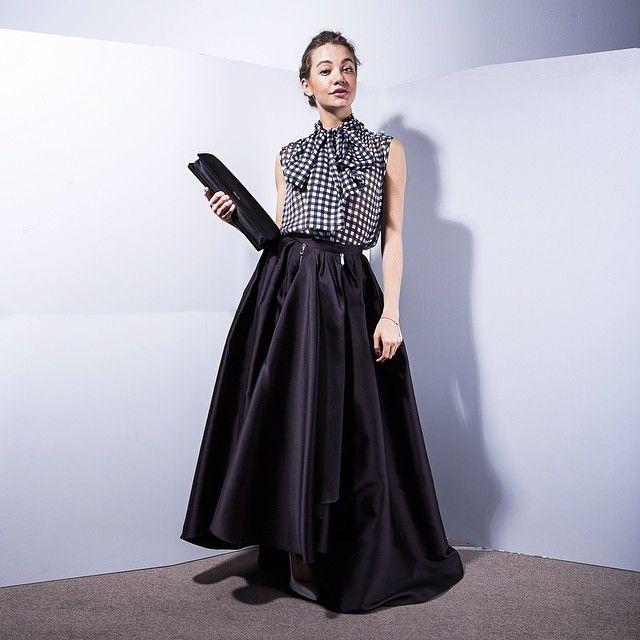 skirt - Christian Dior, top - Daniele Carlotta, clutch - prada ...