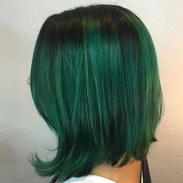 Tcuviellohair Achieved This Color With Extreme Green Start With