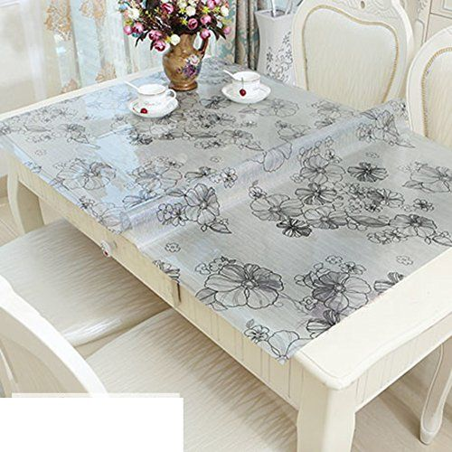 Pvc Table Cloth Oblong Square Plastic Mats Printed Mat Water And Oil Proof Tablecloth Anti Scalding Disposable Tablecloths C