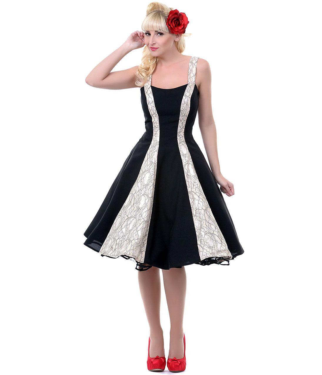 Unique Vintage  Cocktailkleid, Fünfziger jahre mode, Vintage kleider