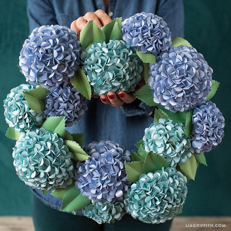 Origami Hydrangea All Season Wreath