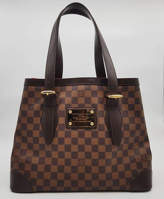 fd61dc2958e3d New Louis Vuitton Hampstead MM Bag Damier Ebene Canvas Gold Hardware  measuring 35cm