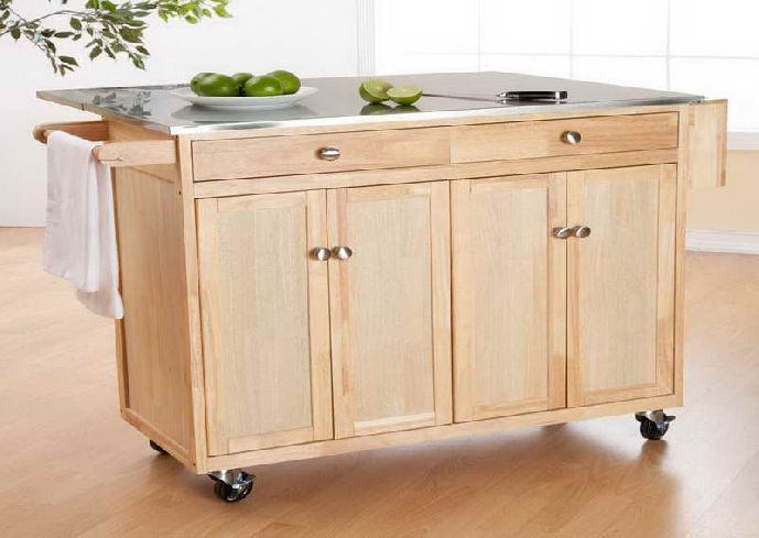 Portable Kitchen Islands In Edmonton With Unfinished Mobile Kitchen