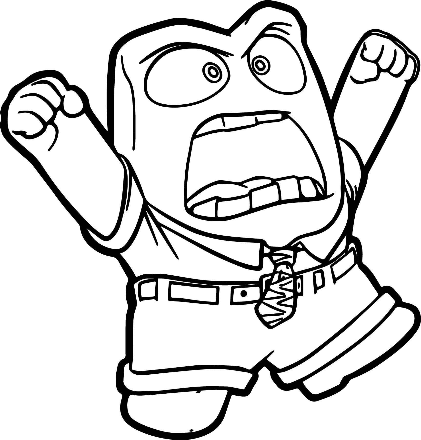 Anger Coloring Pages