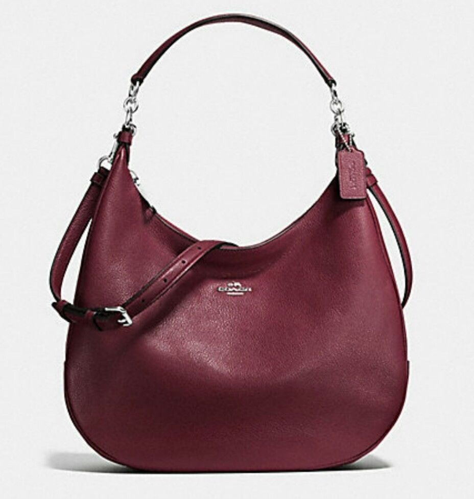 Coach Burgundy Harley Pebble Leather Hobo Shoulder Bag F38259 ...