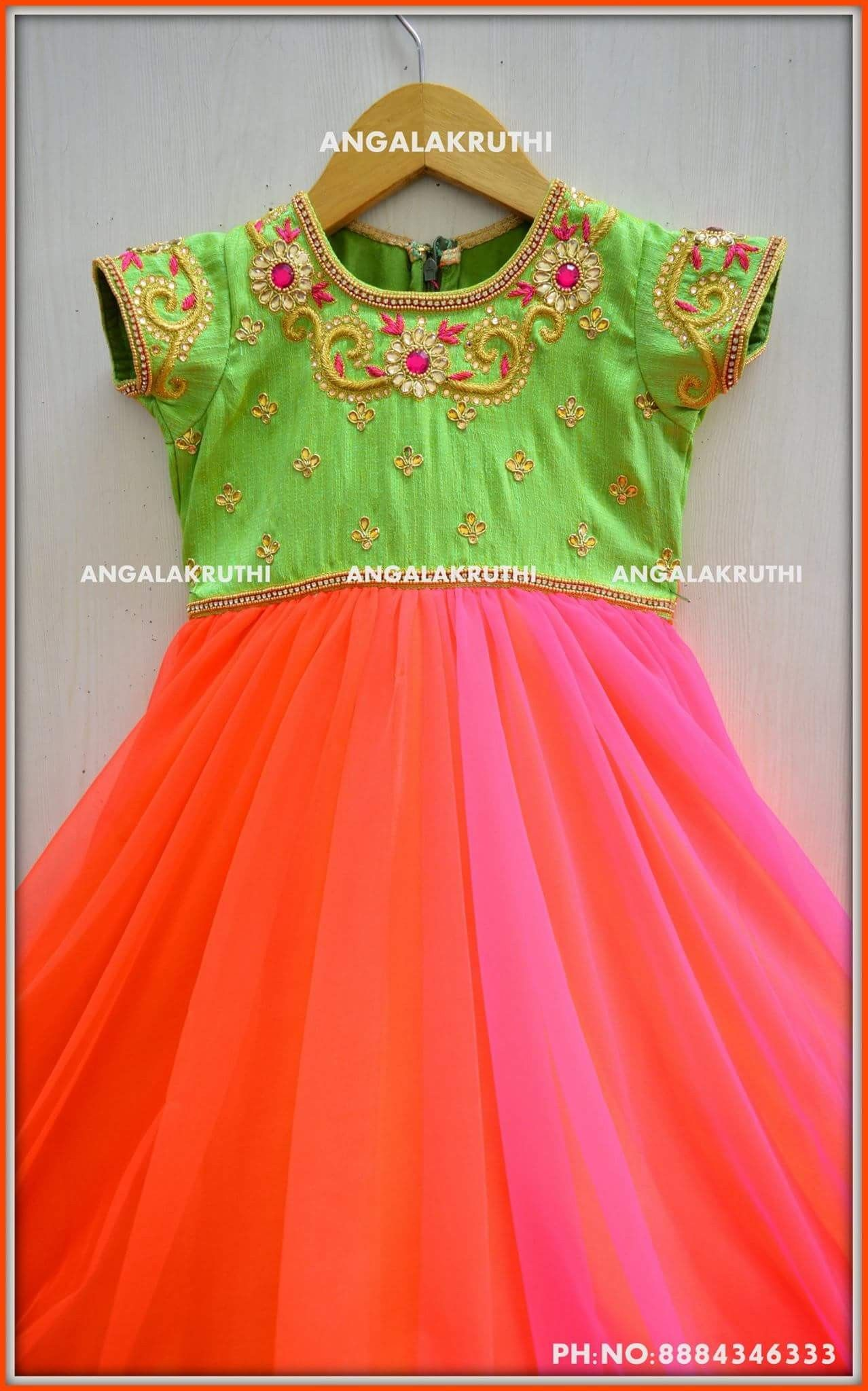 fb4db73cf Kids frock Custom designs by Angalakruthi boutique Bangalore Watsapp ...