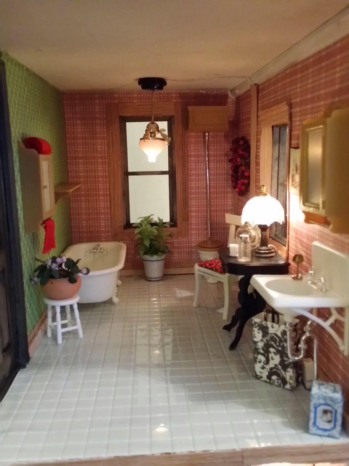 Greggsminiatureimaginations February 2014 Bathroom Model Wood Strips House