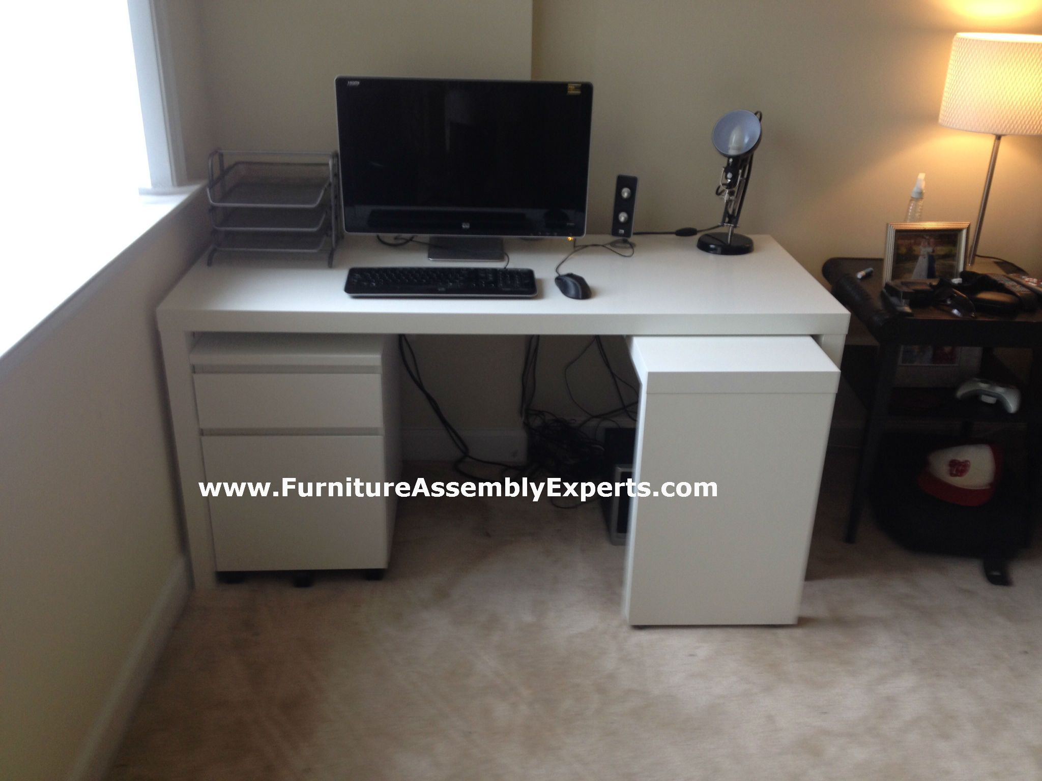 Ikea Malm Desk With Galant File Cabinet Assembled In Philadephia Pa By Furniture Assembly Experts Llc Ikea Malm Desk Ikea Furniture Assembly Ikea Malm