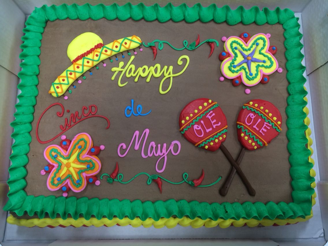 Cinco De Mayo Cake Cake Decorations Pinterest