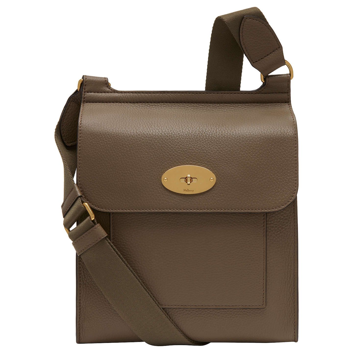 b16963ad263 BuyMulberry Antony Small Classic Grain Satchel, Clay Online at johnlewis.com