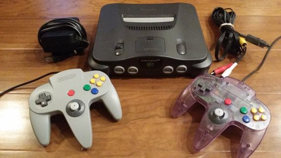 Retro Nintendo 64 system console w 2 controllers  by RetroGameZone