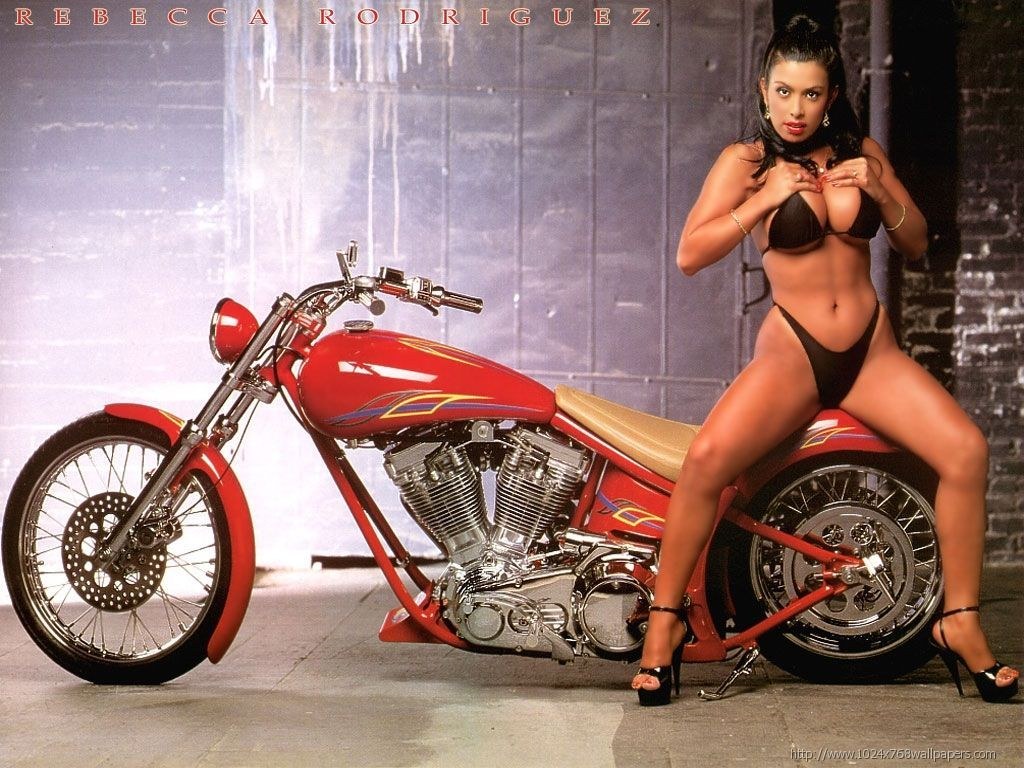 Seems me, Custom chopper motorcycles and girls