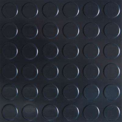 G-Floor Coin 8.5 ft. x 22 ft. Midnight Black Commercial Grade Vinyl Garage Flooring Cover and Protector-GF75CN8622MB - The Home Depot