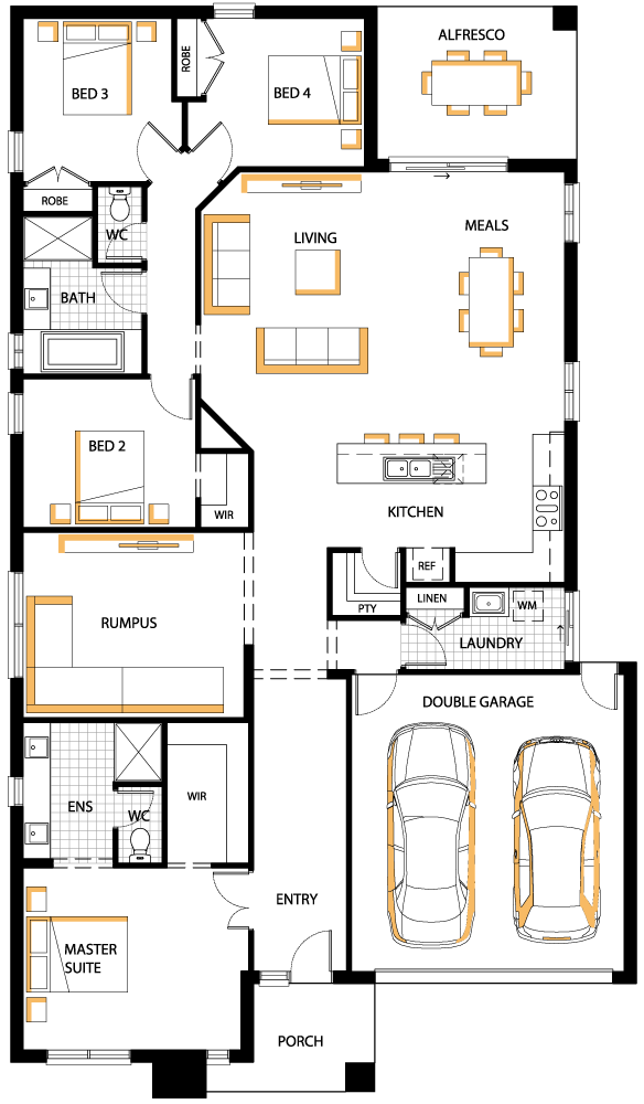 Westbury Mk2 Floor Plan Carlisle Homes Planos De Casas Modernas Planos De Casas Plano De Casas