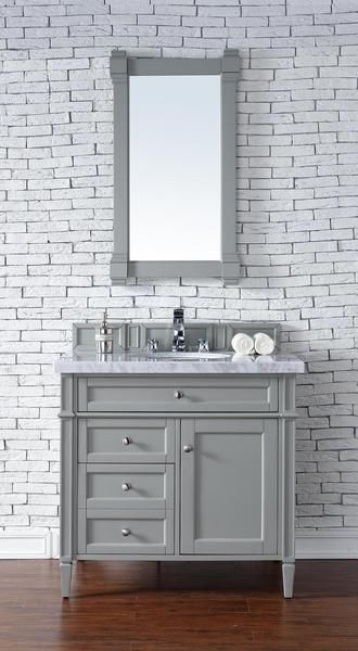 Contemporary Inch Single Bathroom Vanity Gray Finish No Top - 36 inch grey bathroom vanity