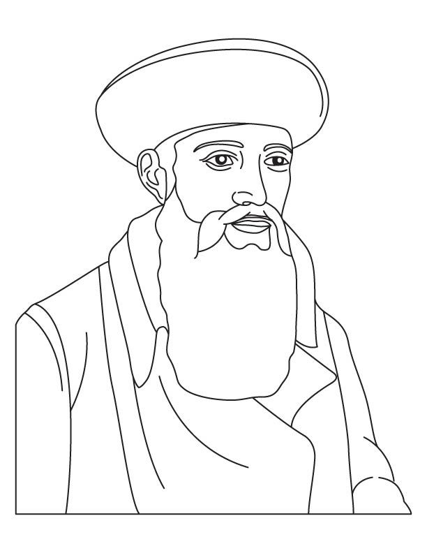 johannes gutenberg coloring page