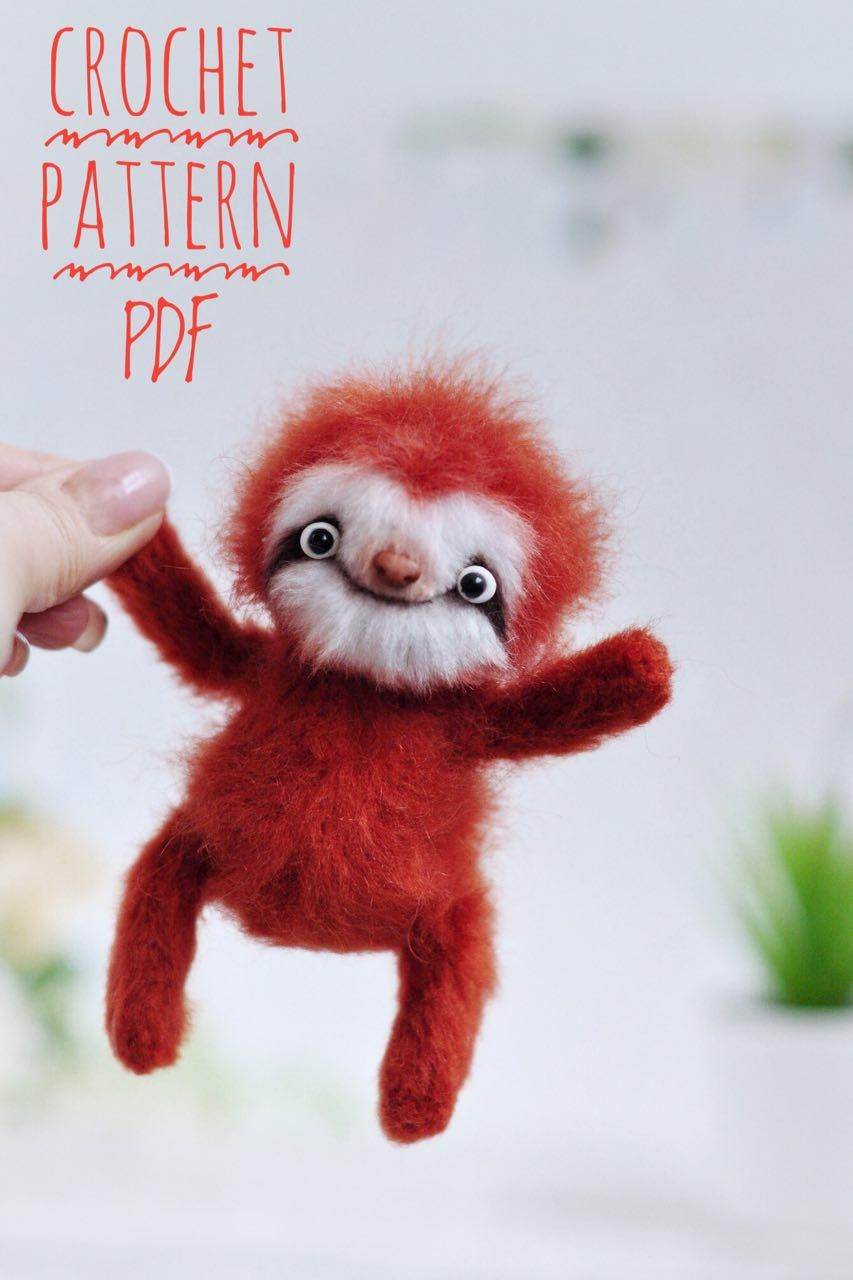 Crochet Sloth PATTERN, Exotic animal PATTERN Amigurumi pattern sloth, Sloth home decor  #handmadetoys