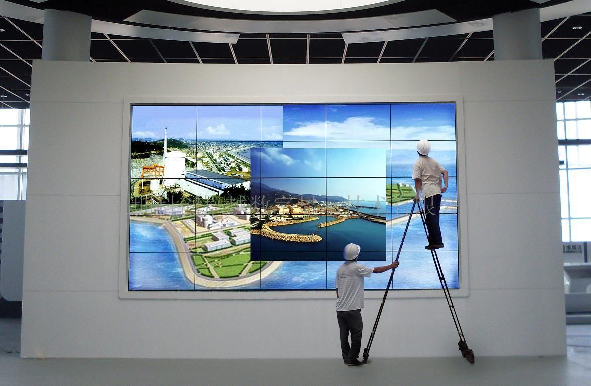 Ultra Narrow Bezel Digital Signage Video Wall HD , 16 7M LCD