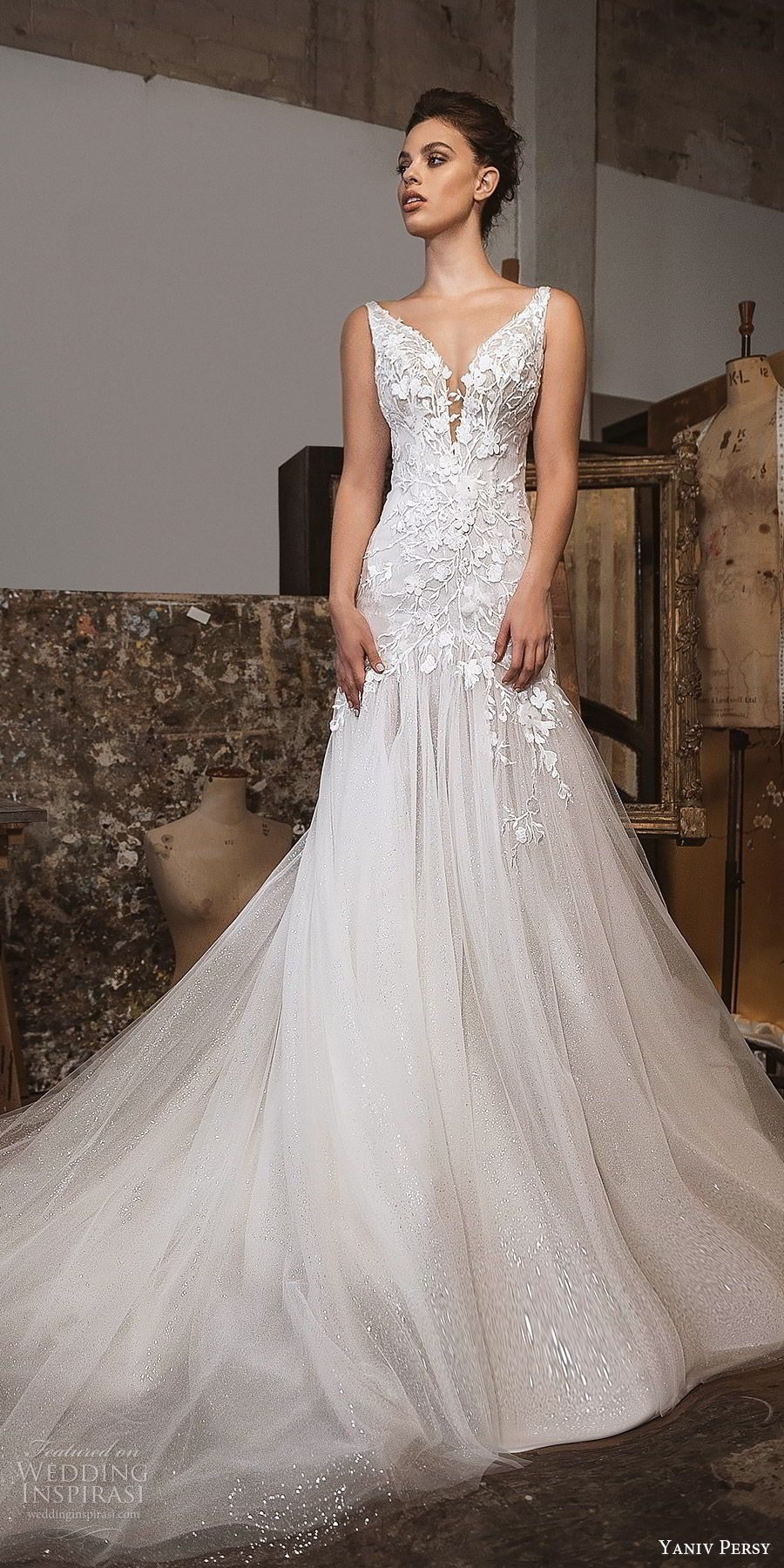 Fit and flare dress wedding  Lavish by Yaniv Persy Fall  Wedding Dresses u ucBlossom u Fleur