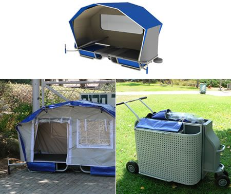 portable homeless shelters design carriage that doubles up - k amp uuml chen luxus design