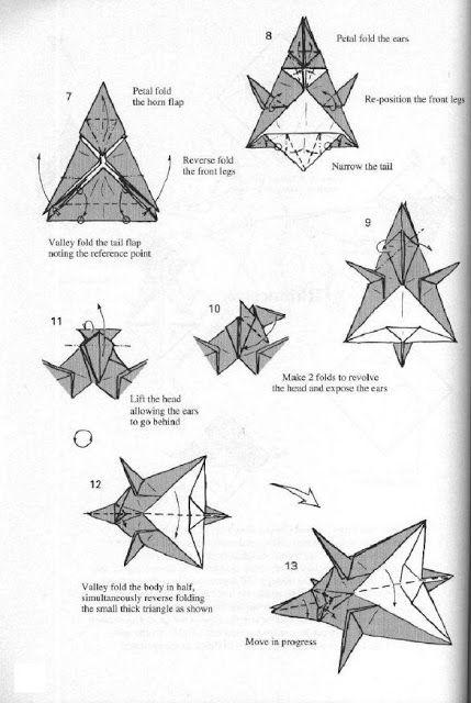 Beliebt instructions origami rhinocéros animaux 2 | Origami | Pinterest  IK27