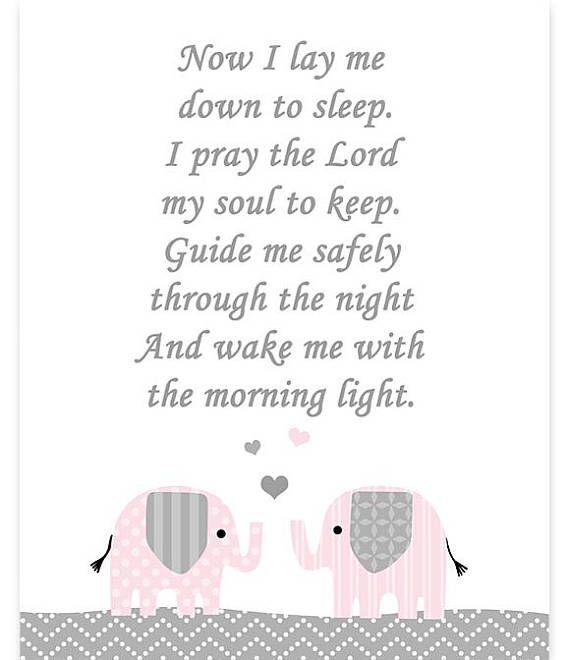 Now I Lay Me Down To Sleep, Nighttime Prayer, Prayer Nursery, Prayer ...