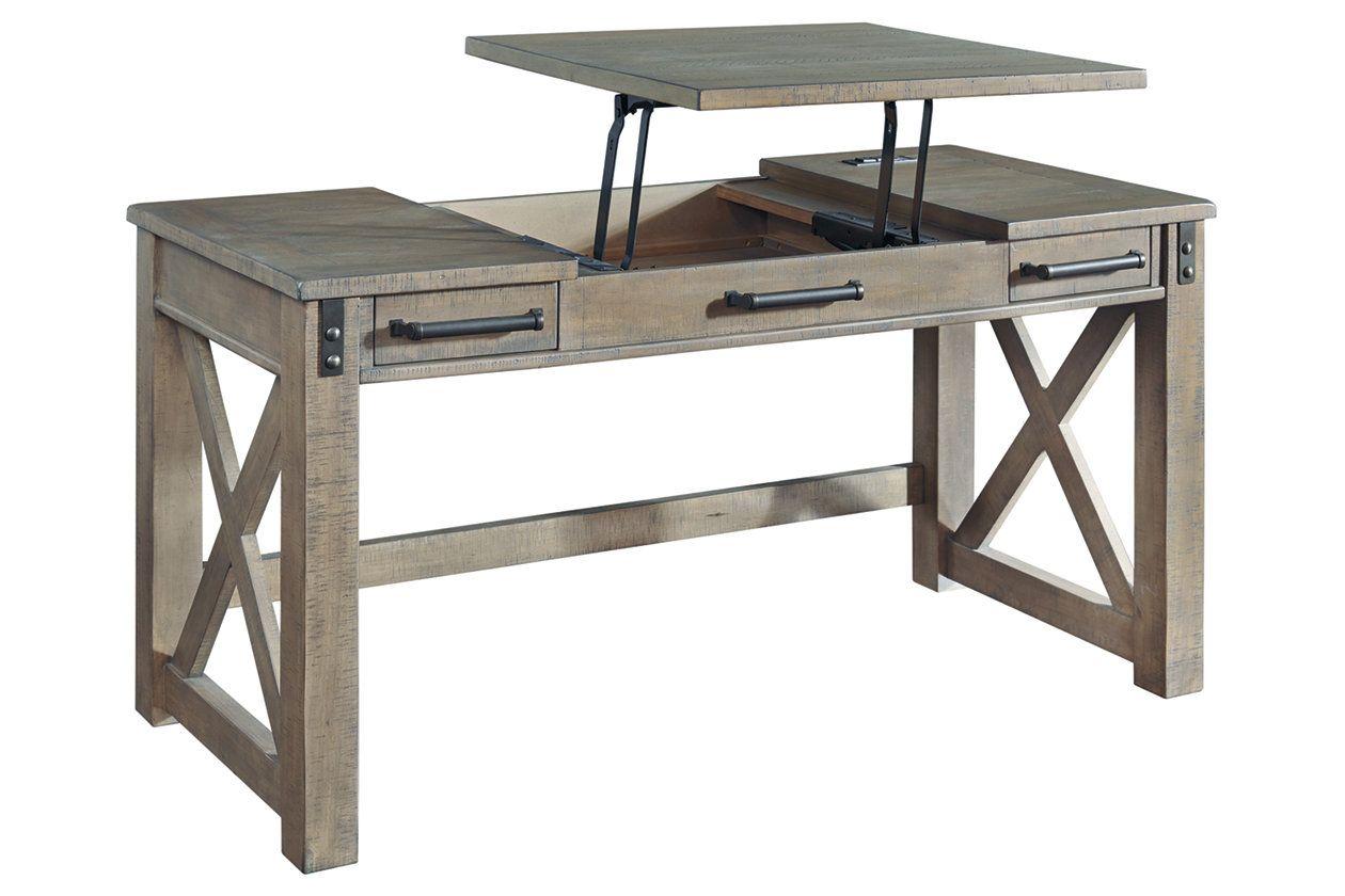 Aldwin Home Office Lift Top Desk Ashley Furniture Homestore Home Office Furniture Desk Gray Home Offices Home Office Desks