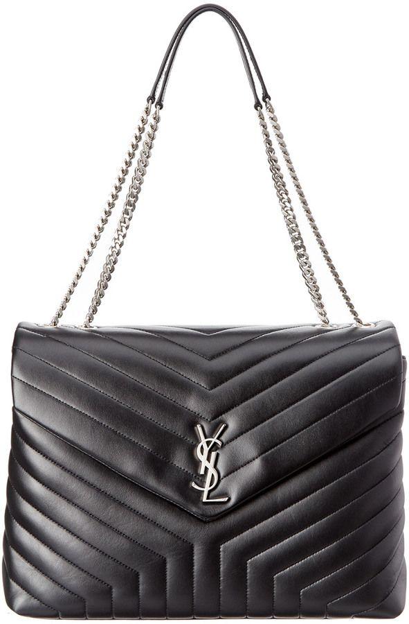 165e21bb1eec Saint Laurent Large Loulou Matelasse Leather Chain Shoulder Bag ...
