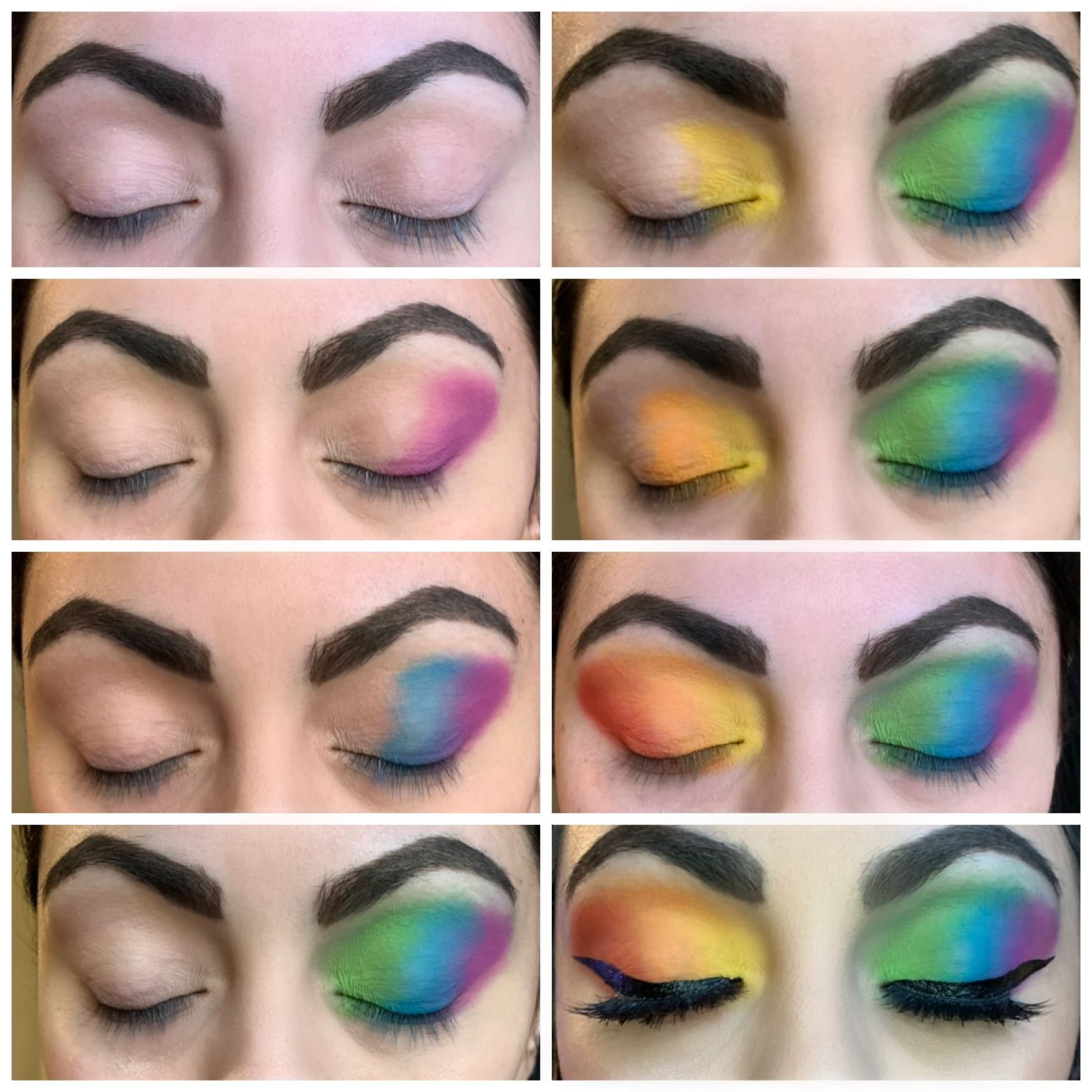Rainbow Makeup Step By Step Tutorial With Images Rainbow
