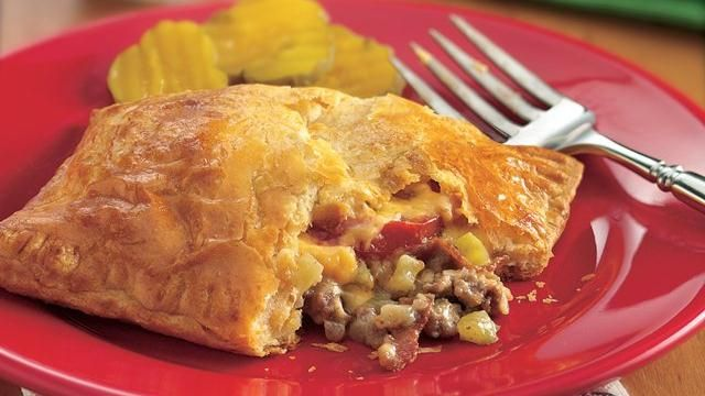 Bacon-Cheeseburger Calzones  < The kids LOVE these!  :)