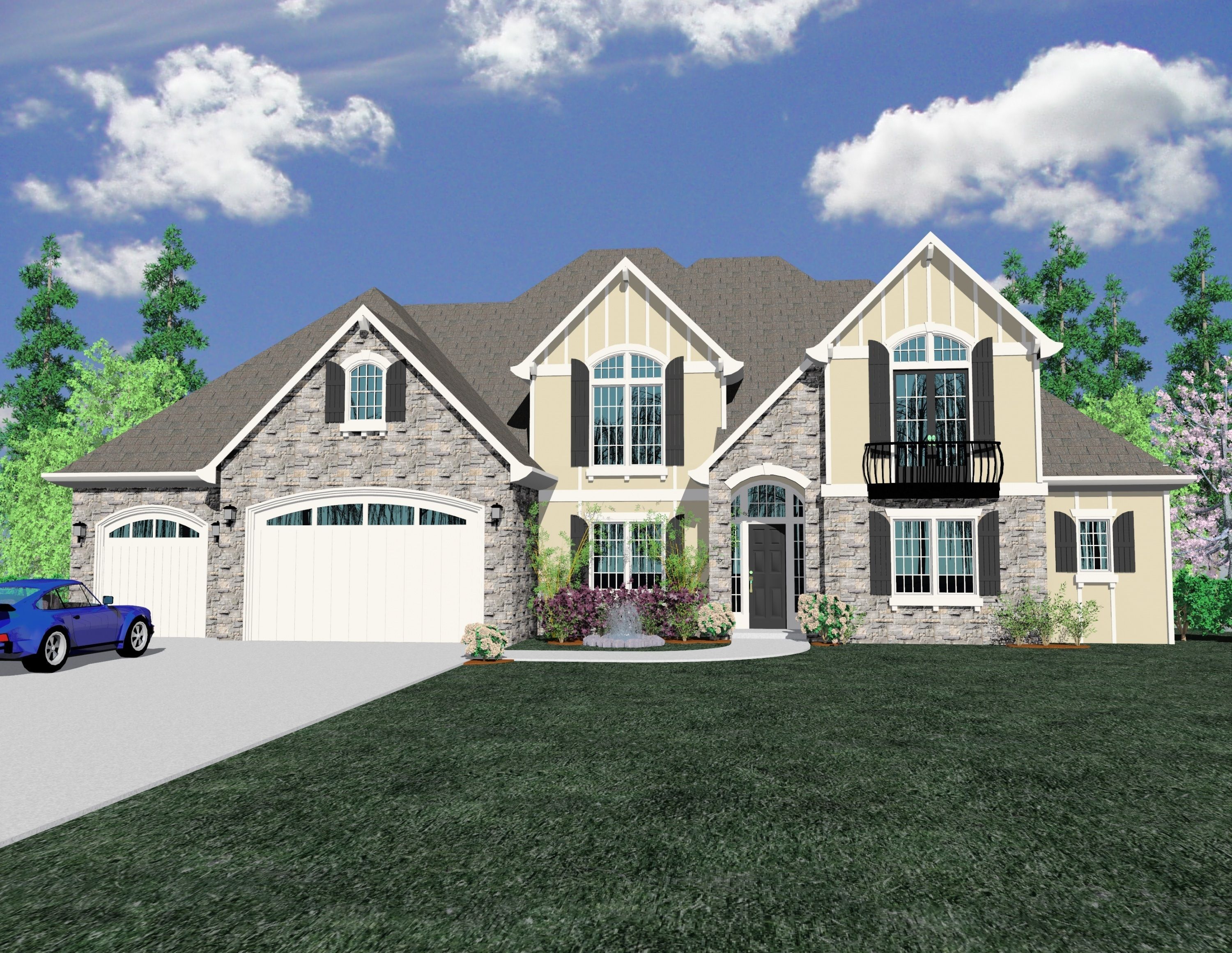 Hills View House Plan Modern Style House Plans House Plans French Country House Plans