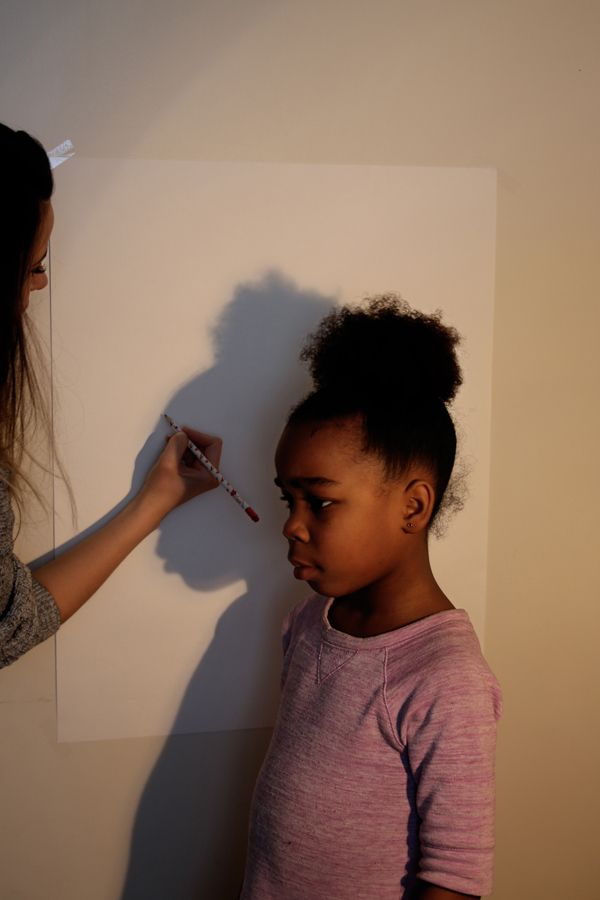How to: DIY Family Silhouette Art in Under an Hour