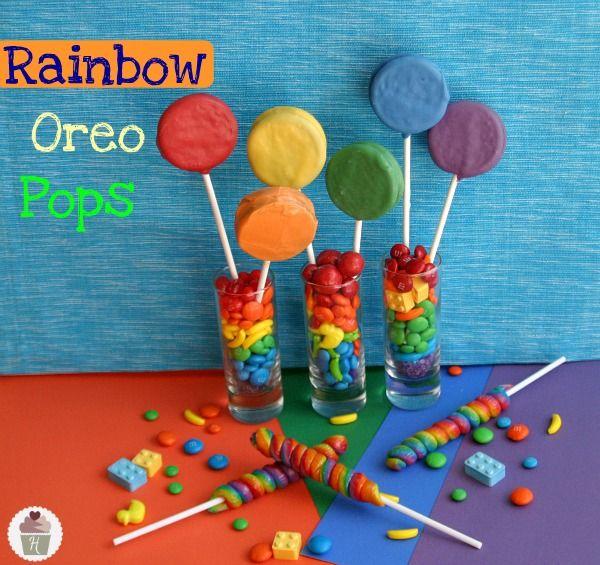 Rainbow Oreo Pops
