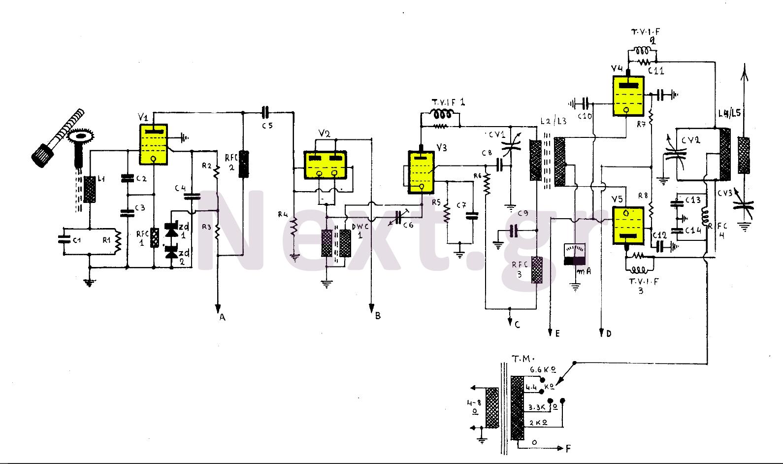 255w valve rf transmitter circuit