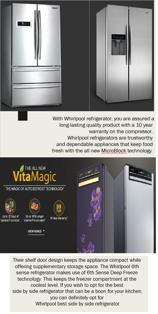 With Whirlpool Refrigerator You Are Assured A Long Lasting